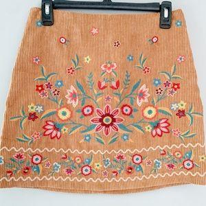 Boho Embroidered Mini Skirt Boutique Umgee Small